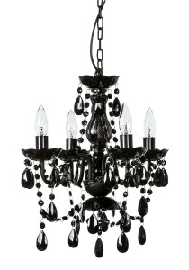 Crystal chandeliers gypsy color 4 light mini black chandelier aloadofball Choice Image